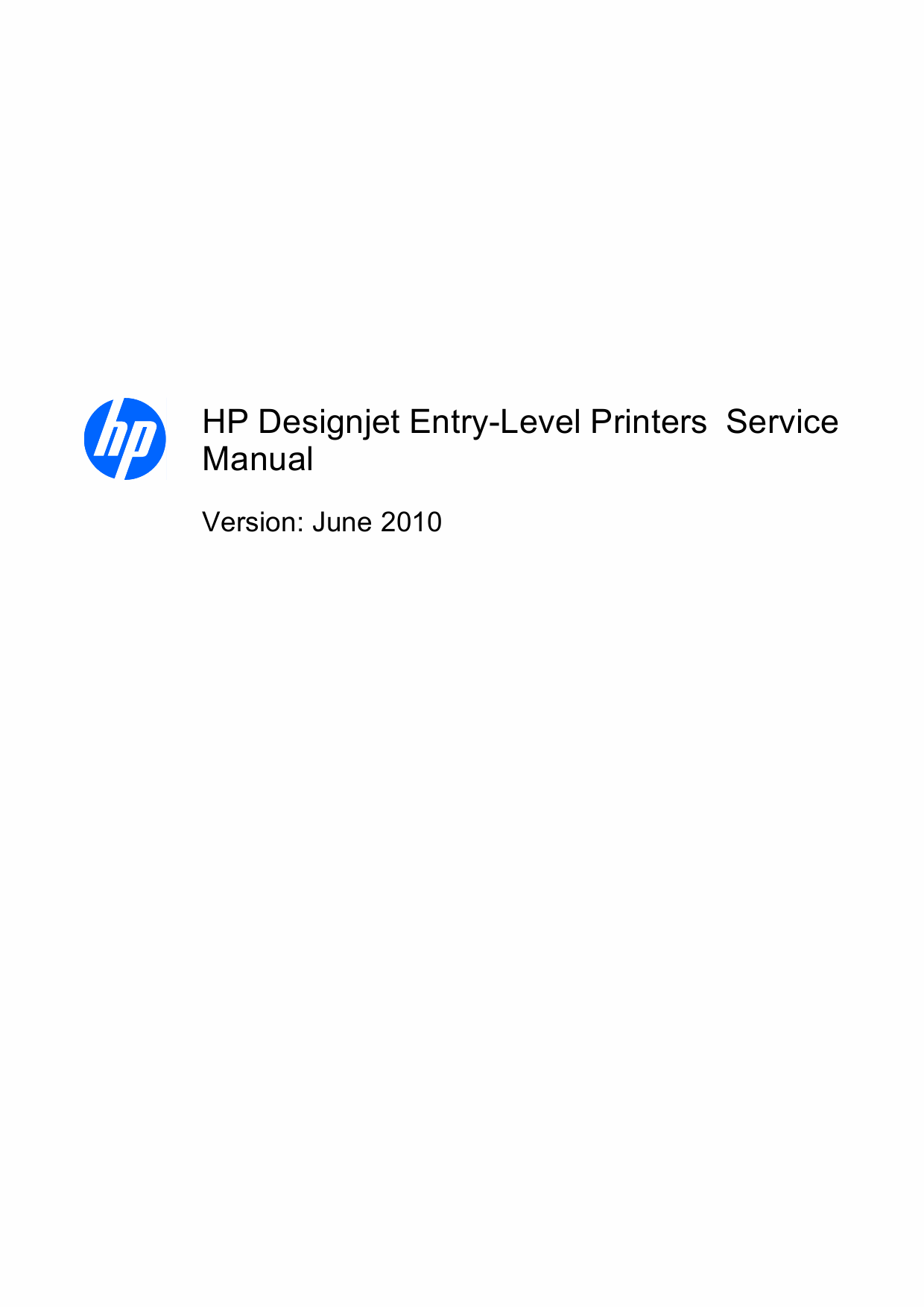 HP DesignJet 111 Service Manual-1